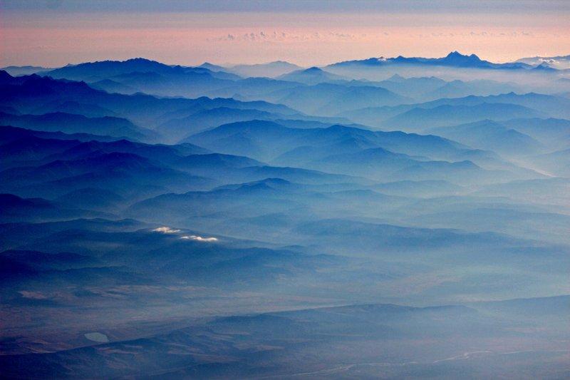 Sunrise over Caucasus