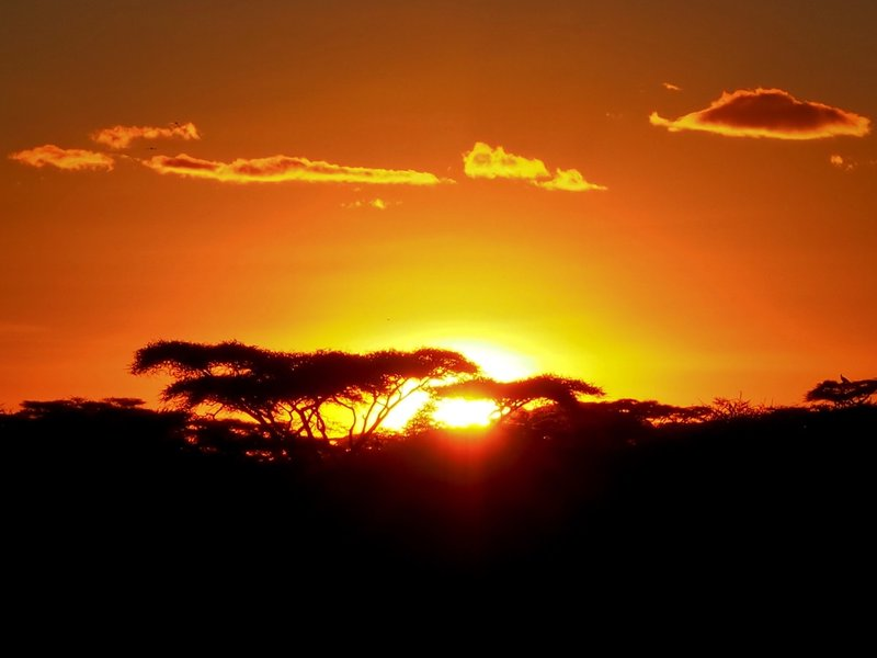 Sunset in Africa 2013