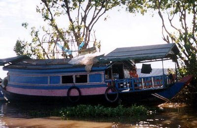 Houseboat on the Sangker River