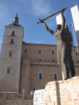 Toledo - Statue at the Alcazar