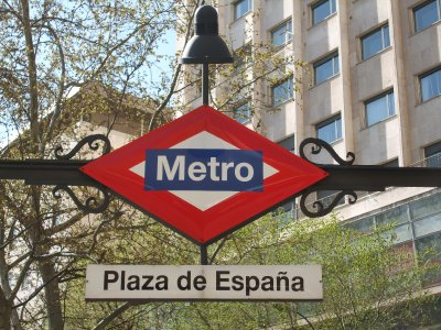 Madrid, Metrostation Plaza de España