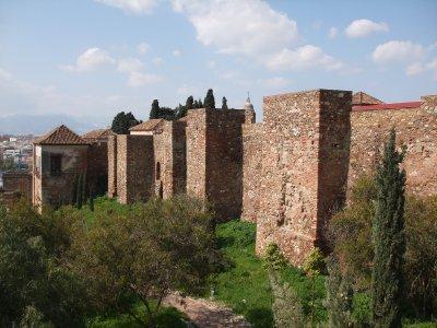 Malaga Alcazaba Walls