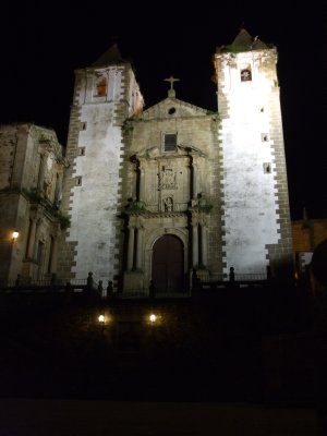Caceres at night