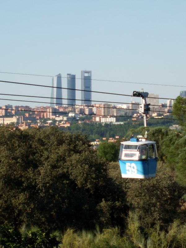 Cable car in Madrid