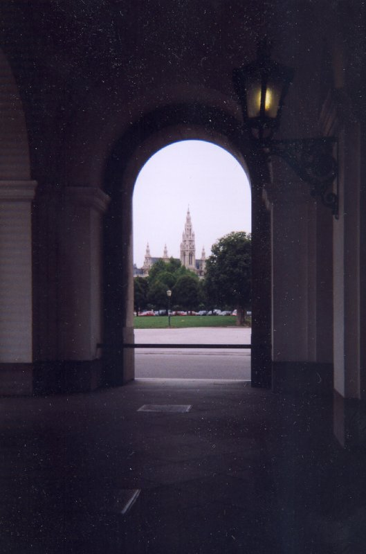 Vienna, Rathaus seen from the Hofburg