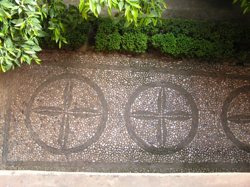 Granada, Alhambra courtyard