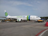 Transavia plane at Eindhoven Airport