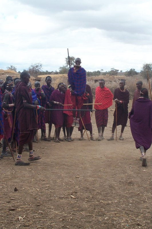 Masai warriors jumping