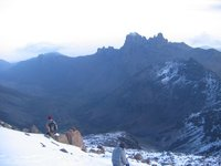 on the peak of mount kenya
