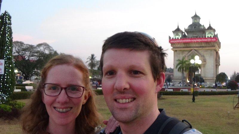 Patuxai arch in Vientiane