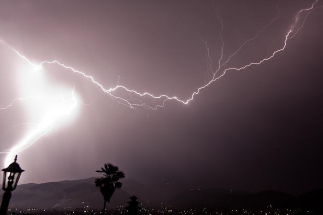 lightning strike in the Bakrapur