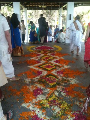 The flower carpet, post-procession