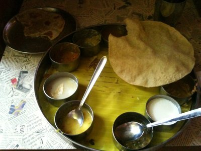 And the thali I had elsewhere the next day, just because