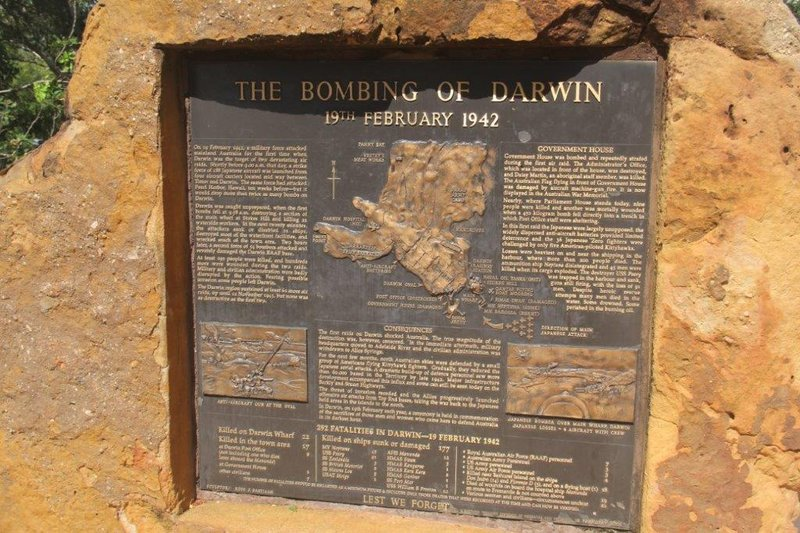 10 weeks after Pearl Harbour Darwin was bombed 63 times