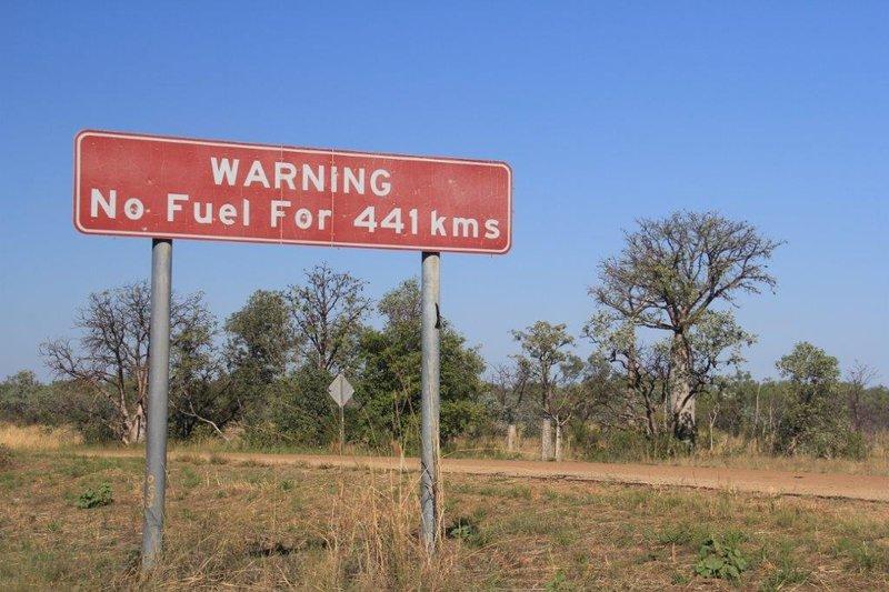 A bit off dirt road to Zebra Rock Mine