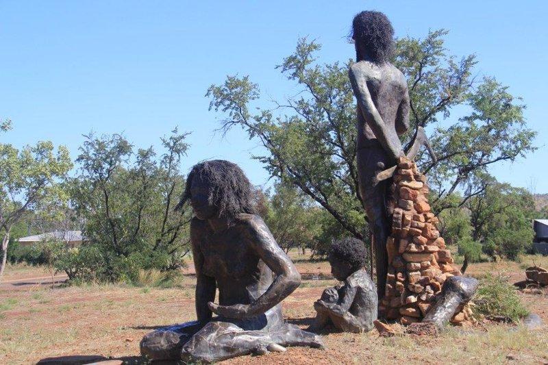Aboriginal statues in Wyndham
