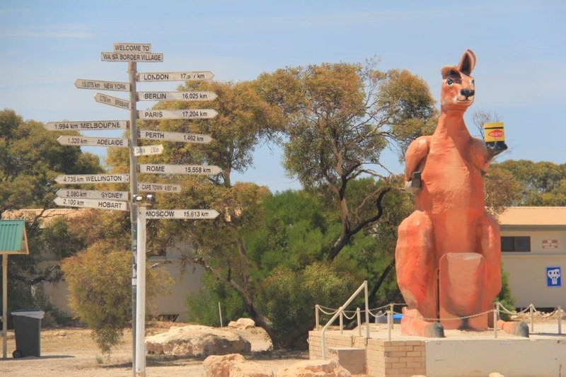 At the border post  to South Australia