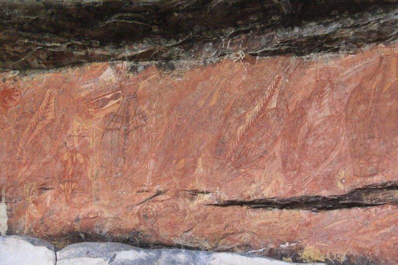 Barramunidi painting 20 000 yrs old