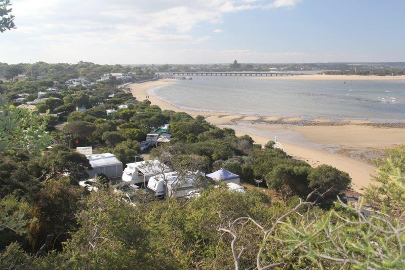 Barwon Heads the caravan park from Seachange