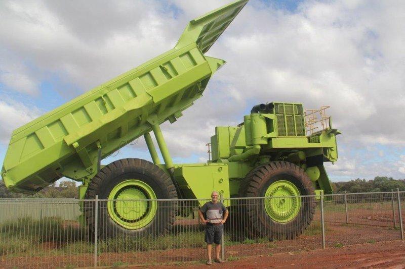 Big mining truck as we leave Tom Price