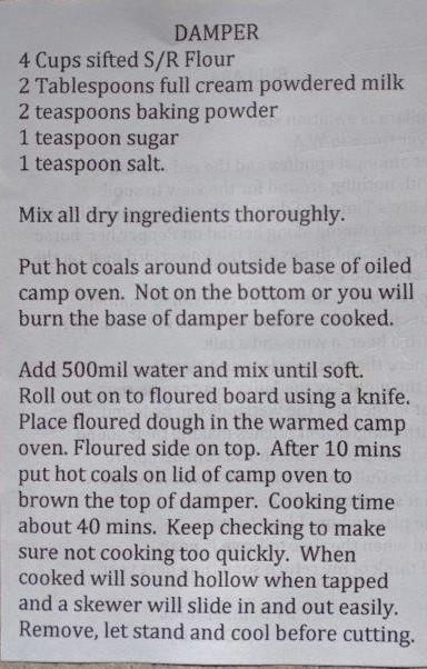 Bullara damper recipe