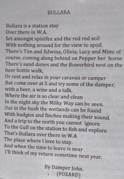 Bullara poem
