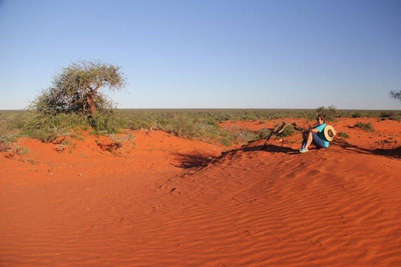 Bullara station bush walk ends at red dunes