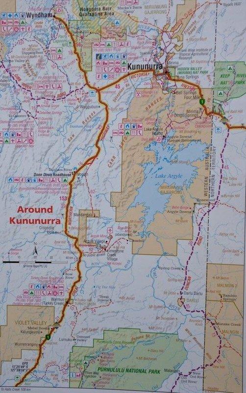 Camping east of Lake Argyle then Kununurra