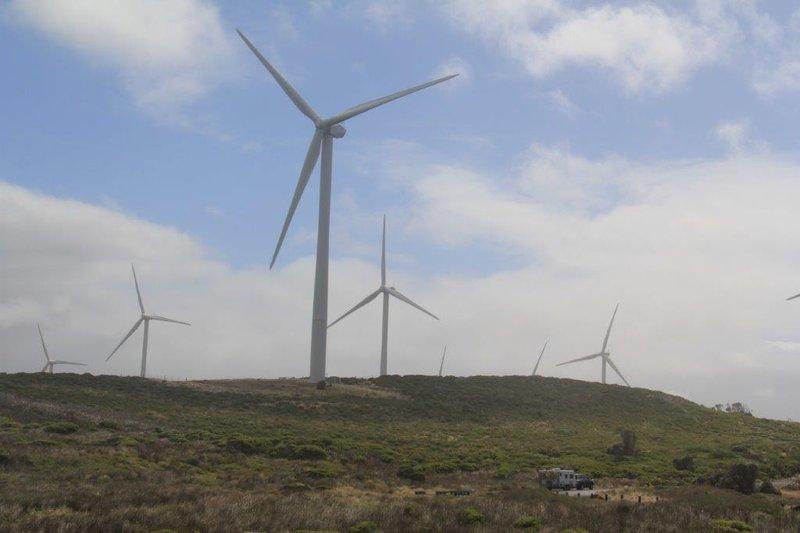 Cape Bridgewater wind farm - spot our van