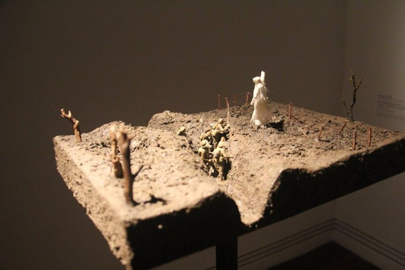 Challenging anti war art in gallery one of 38000 works