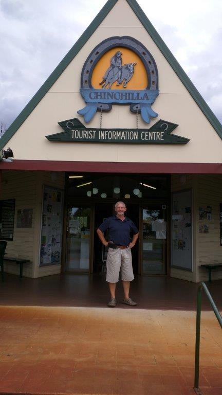 Chinchilla tourist info. Great stops with free info home made fig jam and cold water