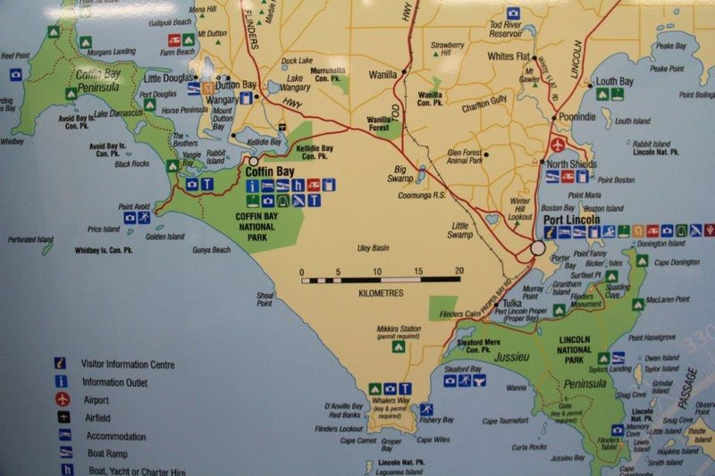 Coffin Bay, Mikkira Station and Port Lincoln  plus Nat Park