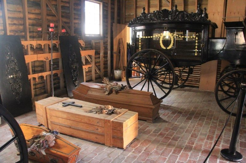 Coffin making and hearse