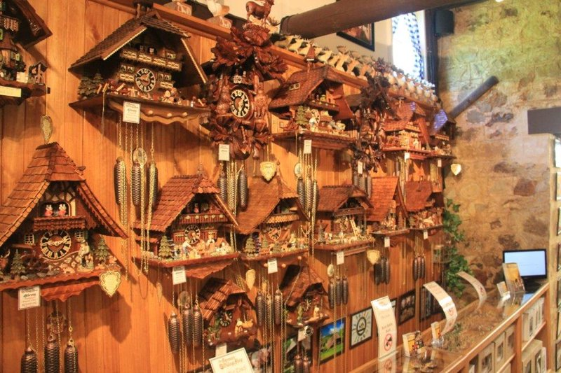 Cuckoo clocks in shop in Hahndorf