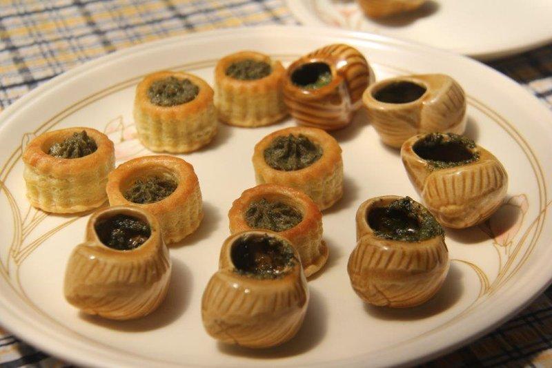 Delicious snails