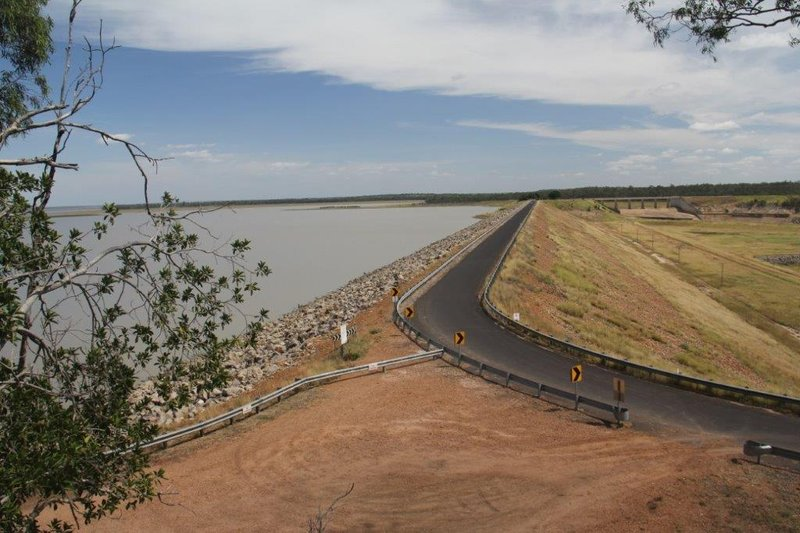 Emerald Fairbairn dam at 43 percent still more water than Sydney Harbour
