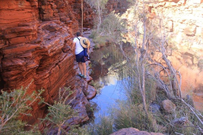 Entering a gorge when still dry