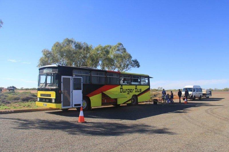 Food bus visiting us at free camp
