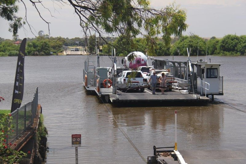 Free ferry crossing across the Murray River at Wellington