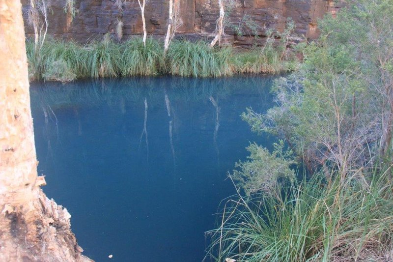 High mineral content colours the water