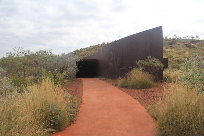 Karijini Visitor Centre iron building in iron ore area