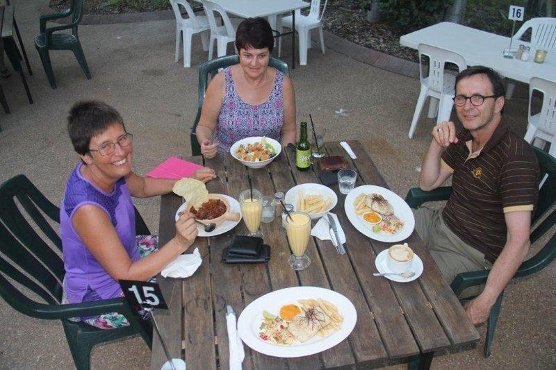 Kriels shouting us Barramundi and Lamb curry at Big Fig