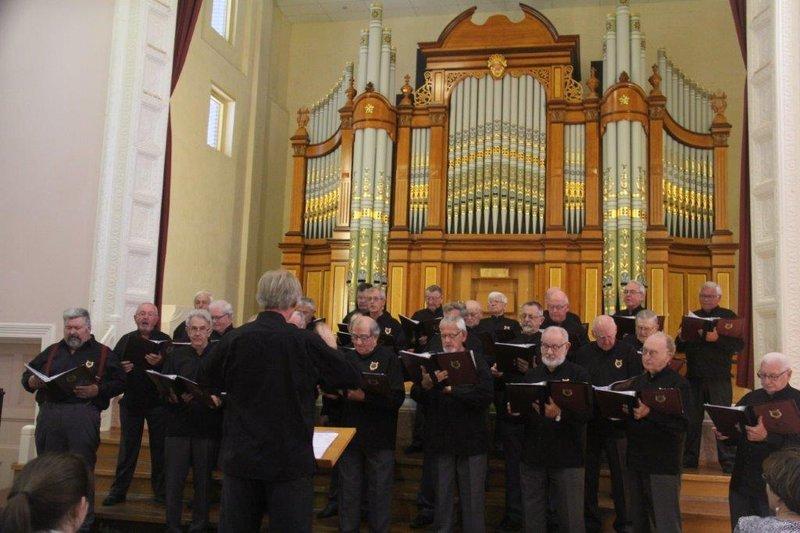 Male choir and organ performance at Tanunda art gallery