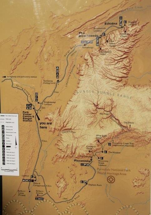 Map of the Bungle Bungles