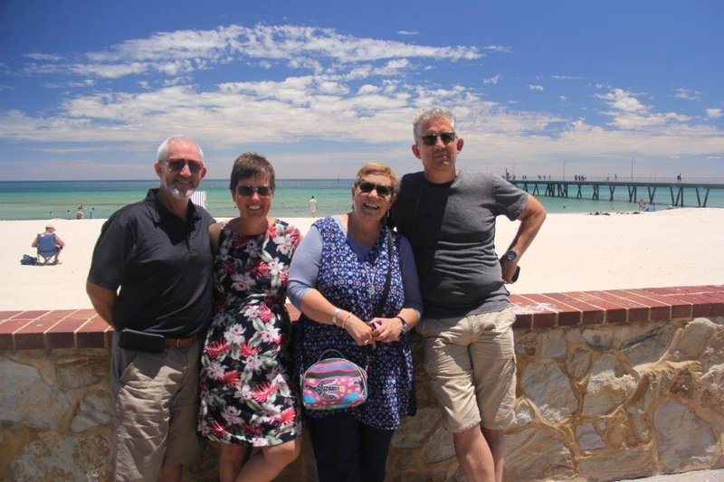 Meeting great Perth friends in Glenelg on Christmas Day