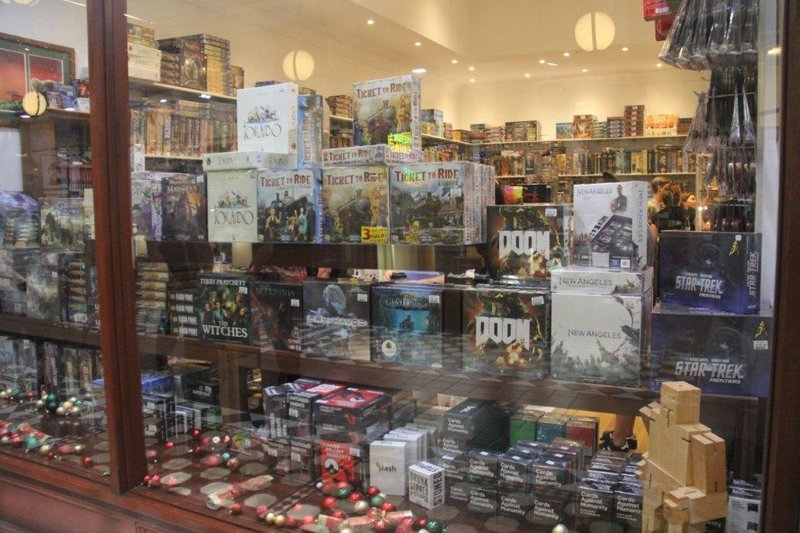 More board games in this shop than I've ever seen