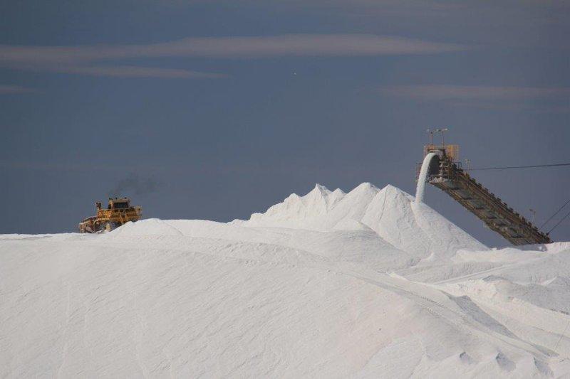 Mountain of salt Dampier Salt