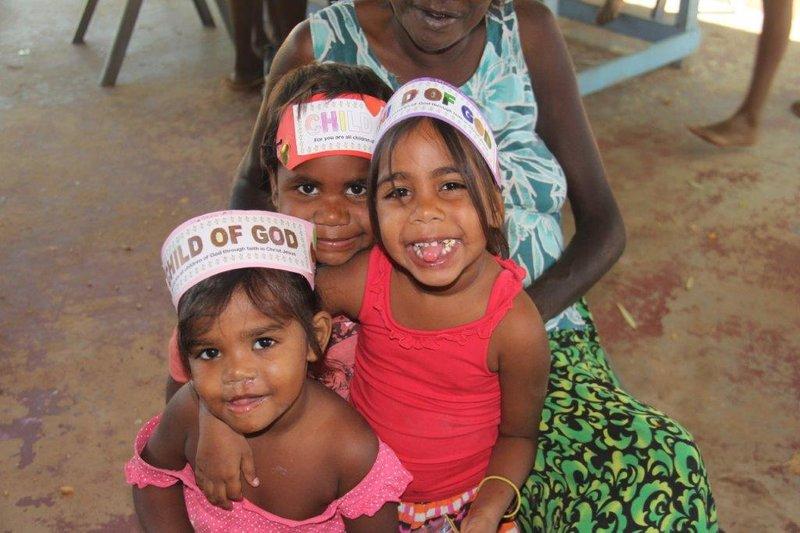 Mowanjum kids at worship