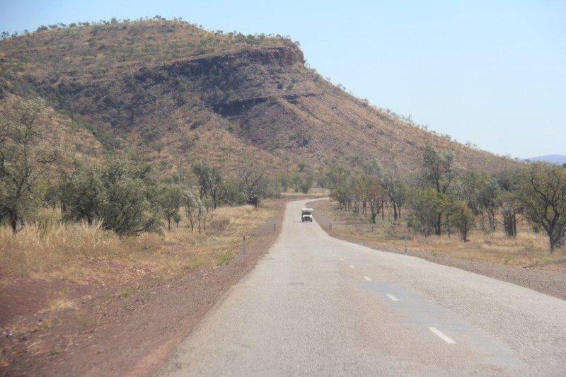 Narrow winding road through 100s km of mountains