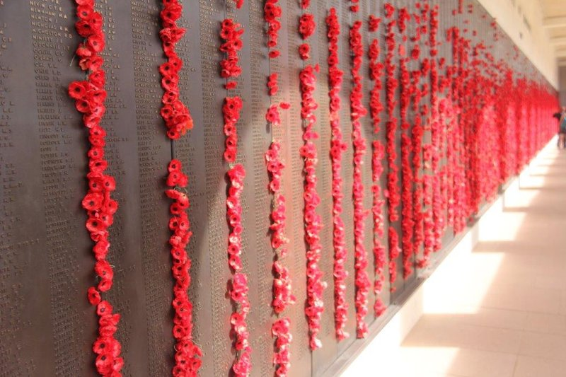 One part of the wall remembering 102000 deaths in war
